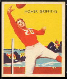 Homer Griffith 1935 National Chicle football card