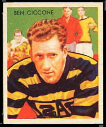 Ben Ciccone 1935 National Chicle football card