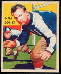 Tom Jones 1935 National Chicle football card