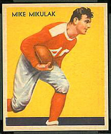 Mike Mikulak 1935 National Chicle football card