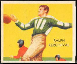 Ralph Kercheval 1935 National Chicle football card
