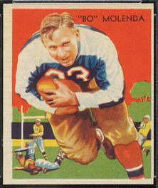 Bo Molenda 1935 National Chicle football card
