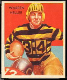 Warren Heller 1935 National Chicle football card