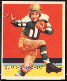 Cliff Montgomery 1935 National Chicle football card