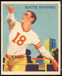 Beattie Feathers 1935 National Chicle football card
