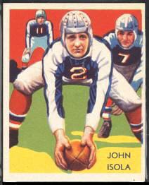 John Dell Isola 1935 National Chicle football card