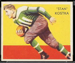 Stan Kostka 1935 National Chicle football card