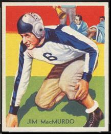 Jim MacMurdo 1935 National Chicle football card