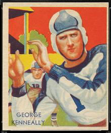 George Kenneally 1935 National Chicle football card