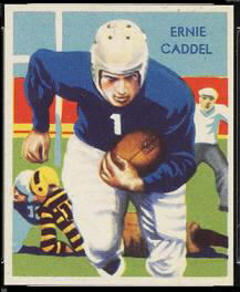 Ernie Caddel 1935 National Chicle football card