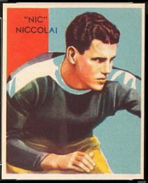 Nic Niccolai 1935 National Chicle football card