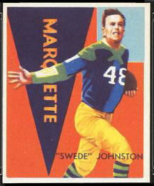 Swede Johnston 1935 National Chicle football card