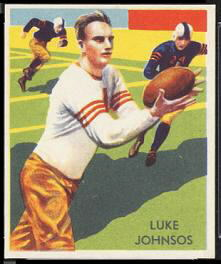 Luke Johnsos 1935 National Chicle football card