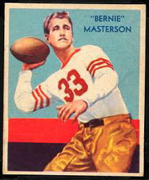 Bernie Masterson 1935 National Chicle football card