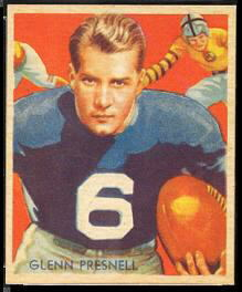 Glenn Presnell 1935 National Chicle football card