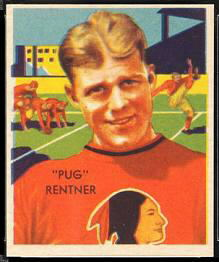 Pug Rentner 1935 National Chicle football card