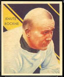 Knute Rockne 1935 National Chicle football card