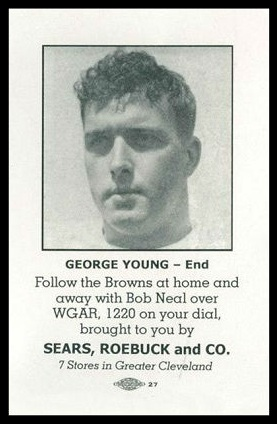 George Young 1946 Sears Browns football card