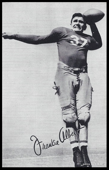 Frankie Albert 1948-52 Exhibit football card