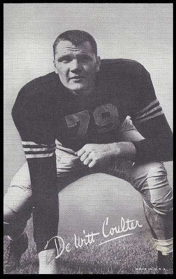 Tex Coulter 1948-52 Exhibit football card