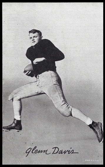 Glenn Davis 1948-52 Exhibit football card