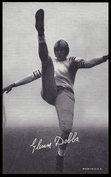 Glenn Dobbs 1948-52 Exhibit football card