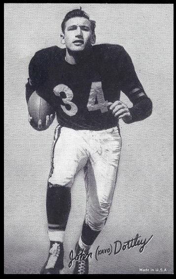 John Dottley 1948-52 Exhibit football card