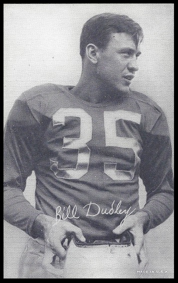 Bill Dudley 1948-52 Exhibit football card