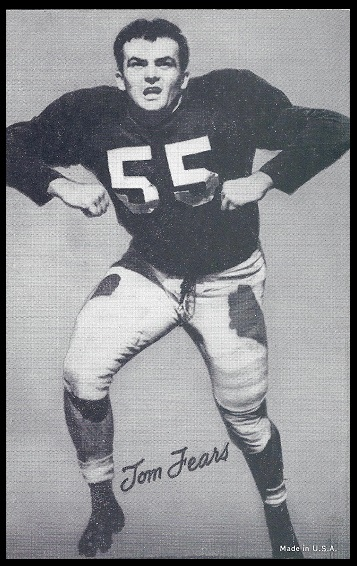 Tom Fears 1948-52 Exhibit football card