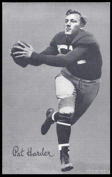 Pat Harder 1948-52 Exhibit football card