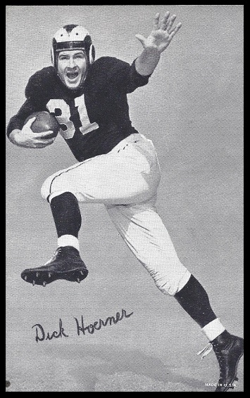 Dick Hoerner 1948-52 Exhibit football card