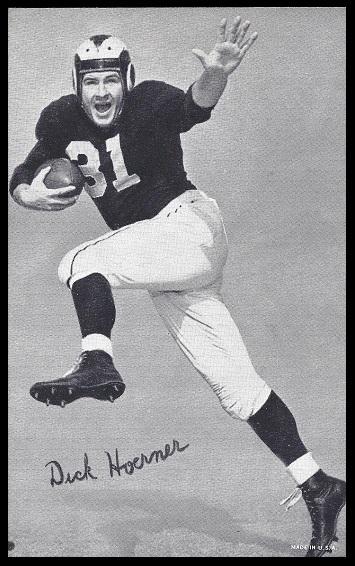 Dick Hoerner 1948-52 Exhibit football card