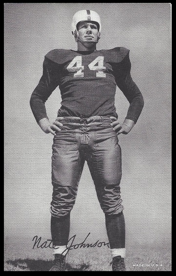 Nate Johnson 1948-52 Exhibit football card