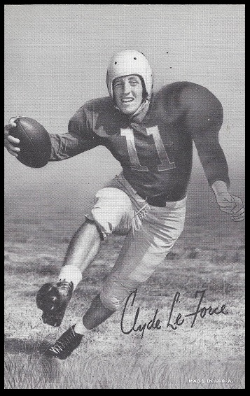 Clyde LeForce 1948-52 Exhibit football card