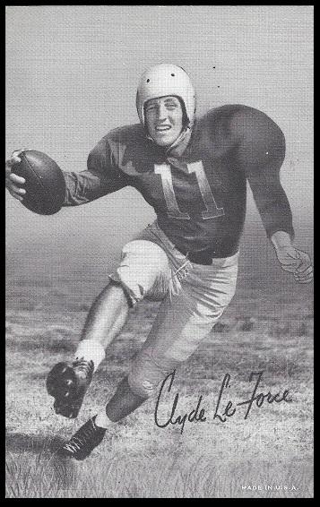 Clyde LeForce 1948-52 Exhibit football card