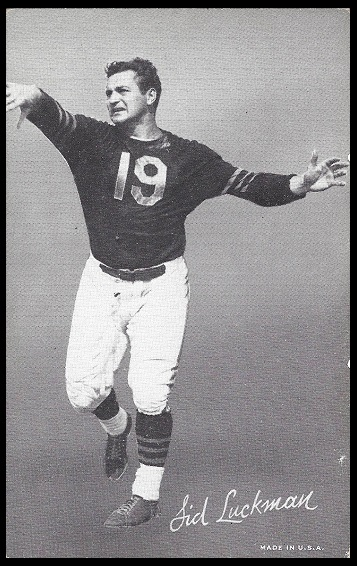 Sid Luckman 1948-52 Exhibit football card