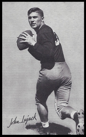 John Lujack 1948-52 Exhibit football card
