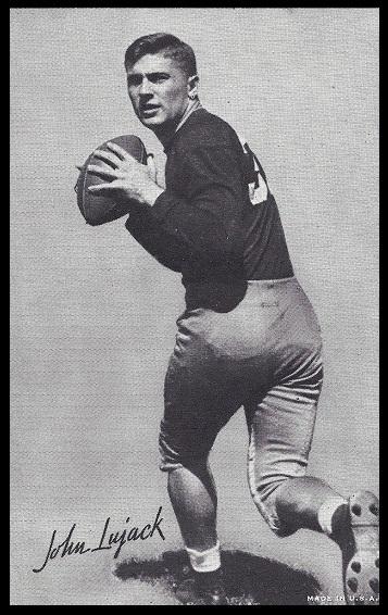 John Lujack 1948-52 Exhibit football card