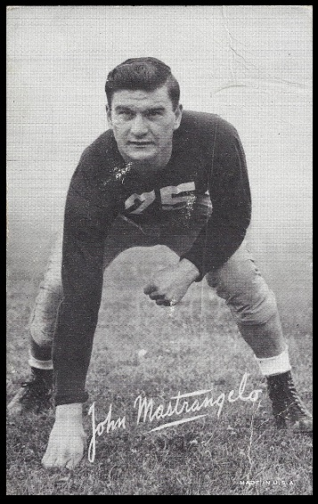 John Mastrangelo 1948-52 Exhibit football card