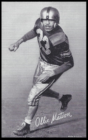 Ollie Matson 1948-52 Exhibit football card