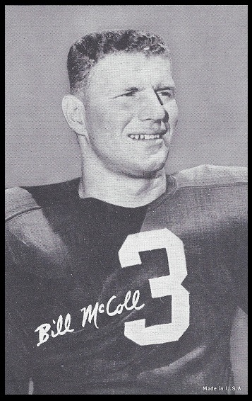 Bill McColl 1948-52 Exhibit football card