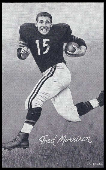Fred Morrison 1948-52 Exhibit football card