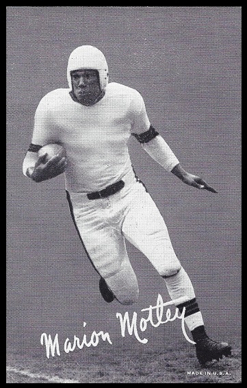 Marion Motley 1948-52 Exhibit football card