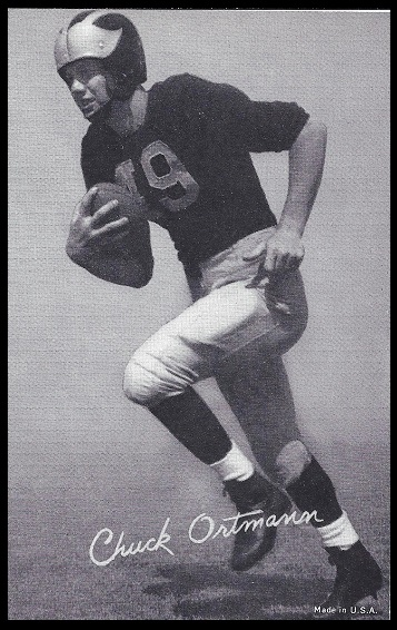 Chuck Ortmann 1948-52 Exhibit football card
