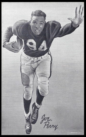 Joe Perry 1948-52 Exhibit football card