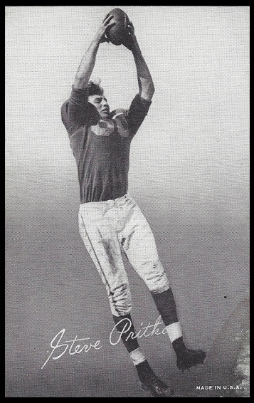 Steve Pritko 1948-52 Exhibit football card