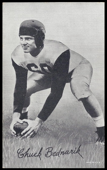 Chuck Bednarik 1948-52 Exhibit football card