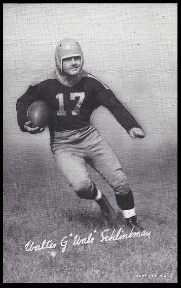 Walt Schlinkman 1948-52 Exhibit football card
