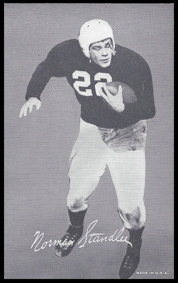 Norm Standlee 1948-52 Exhibit football card