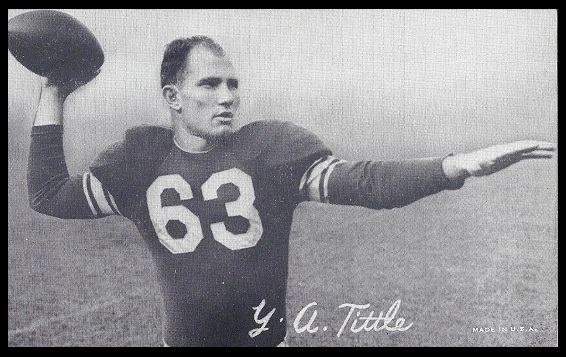 Y.A. Tittle 1948-52 Exhibit football card
